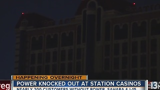 Outage leaves Palace Station in the dark - Video