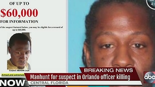 Manhunt for suspect in Orlando officer killing - Video