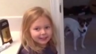 Cute Toddler Poops In A Laundry Basket On Christmas - Video