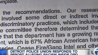 Detroit police union responds to discrimination claims - Video