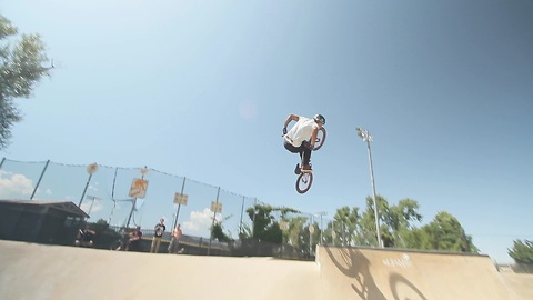 Pro BMX rider shows off insane skills
