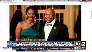 Elijah Cummings' wife considers run for Maryland governor - Video