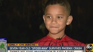 Young boy says being 'Spiderman' saved him after being struck by car - Video