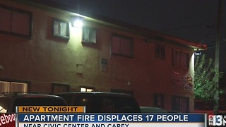 17 displaced in North Las Vegas apartment fire - Video