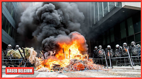 """Multiculture in action in Belgium's capital city """"Brussels'."""