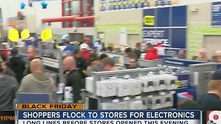 Shoppers flock to Black Friday deals - Video