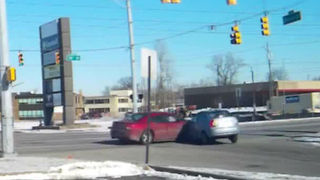 WATCH: Dash cam captures t-bone crash on northeast side - Video
