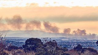 Timelapse Shows Smoke Rising From Melbourne Recycling Centre Fire - Video