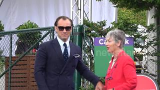 Bee Gee Barry Gibb, Jude Law and Katherine Jenkins at Wimbledon - Video