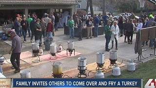 KC family invites others to come fry a turkey - Video