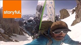 Splitboarder Indulges in Colorado's Snowy Pistes - Video