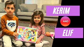 Kerim and Elif funny games, a group of children's clips