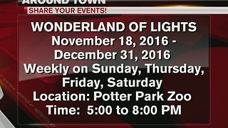 Around Town 11/30/16: Wonderland of lights at Potter Park Zoo - Video
