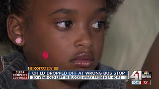 School bus drops first grader off 16 blocks away from home - Video