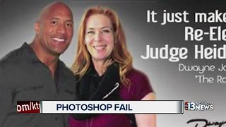 Judge posts photoshopped picture with 'The Rock' - Video