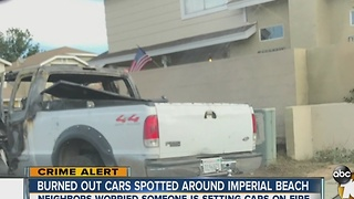 Burned out cars spotted around Imperial Beach