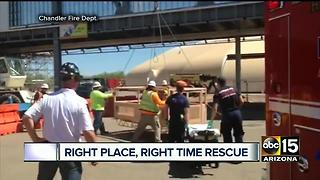 Chandler Fire credited with saving Valley electrician's life - Video