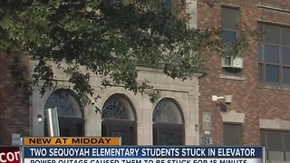Sequoyah Elementary students stuck in elevator after power outage - Video