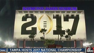 Tampa hosts 2017 National Championship - Video