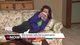 Why do summer colds feel so much worse? - Video