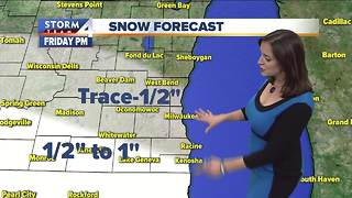Highs in the teens, light snow possible Friday - Video