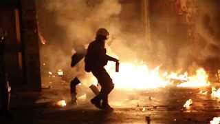 Clashes Erupt in Athens on Anniversary of Police Killing of Teenager - Video