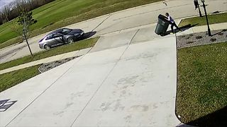 Little Boy Loses Battle Against Trash Can - Video
