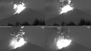 Popocatepetl Spews Ash and Lava in Dramatic Overnight Eruption - Video