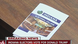 Indiana's Electoral College casts all 11 votes for Trump - Video