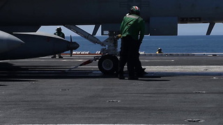 USS Theodore Roosevelt Conducts Flight Operations - Video
