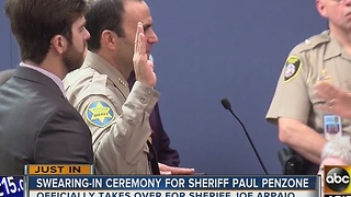 New Maricopa County Sheriff Paul Penzone takes Oath of Office - Video