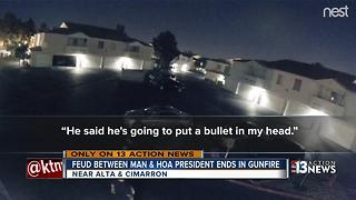 Feud between man and HOA President ends in gunfire - Video