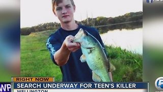 Search underway for teen's killer