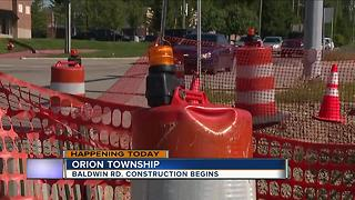 Baldwin Road construction begins in Orion Township - Video