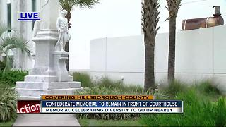 Commissioners vote to keep Confederate war memorial in Hillsborough County, add diversity memorial - Video