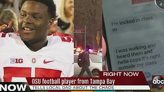 OSU football player from Tampa Bay prepared for campus attacks by family - Video