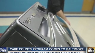 Care Counts program brings washing machines to Baltimore schools - Video