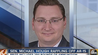 Sen. Michael Hough holds raffle for AR-15 - Video