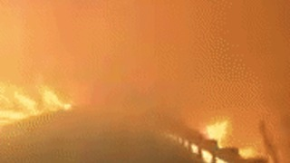 Dramatic Video From Firefighter Driving Through Gatlinburg Wildfire - Video