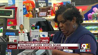 Hero Walmart clerk stops scam, saves Christmas - Video
