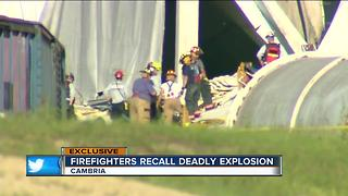 Volunteer firefighters recall deadly corn mill explosion - Video