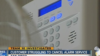 Customer struggling to cancel alarm service - Video