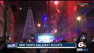 Indianapolis couple frightened by stray bullet that hit home on New Year's Eve - Video