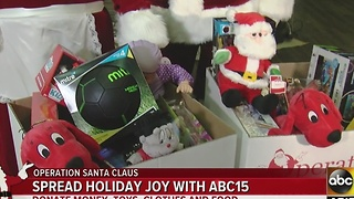 ABC15 working on Operation Santa Clause to help those in need this holiday season - Video