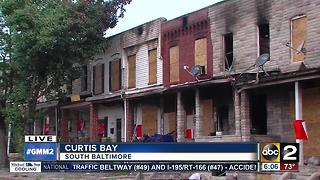 Families try to salvage belongings after Curtis Bay fire