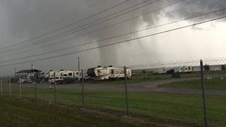 Huge Waterspout Sighted Near Morgan City - Video