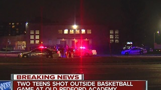 Two teens shot near Old Redford Academy - Video