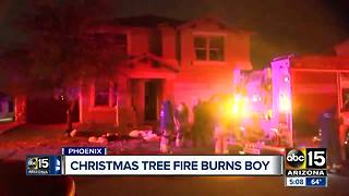 House fire caused by faulty Christmas tree wire in Phoenix - Video