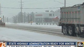 Maryland State Highway Administration is ready for winter