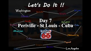 American Road Trip, route 66 - Day 7 Pereville to Cuba St Louis.